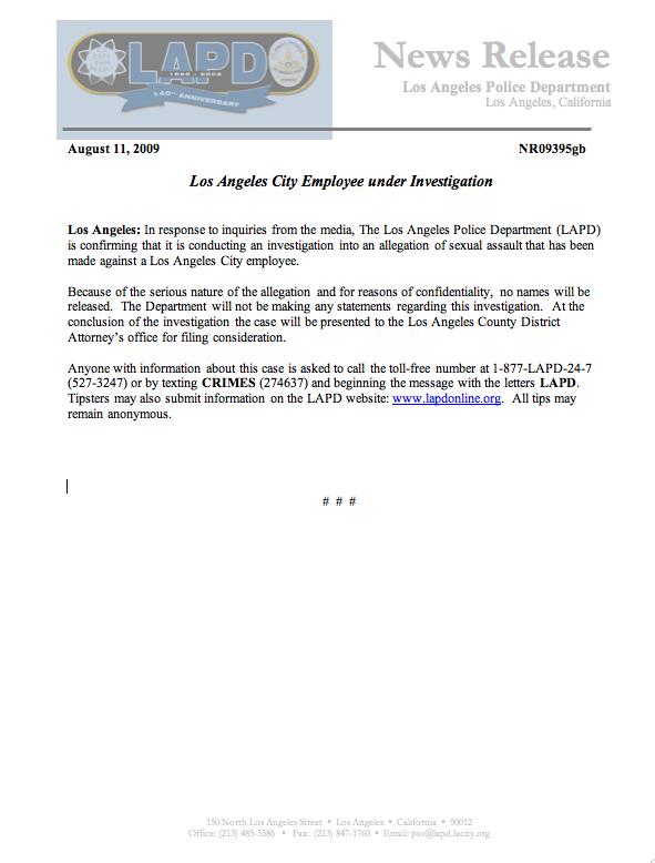 LAPD PR